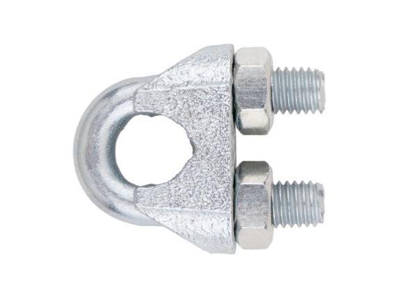 Sujetacables zincado DIN 741
